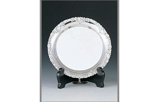丸盆 銀製 贈答品 SV-115